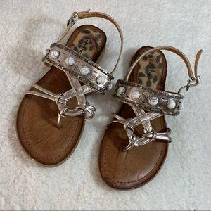 BareTraps Mollie Embellished Beaded Brown Sandals
